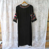 Palm Springs Kaftan Dress in Black: Alternate View #3