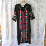 Palm Springs Kaftan Dress in Black: Alternate View #2