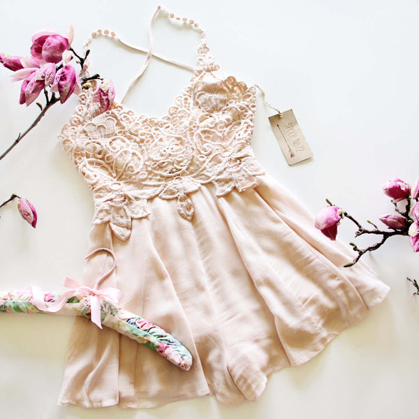 Palm Desert Lace Romper: Featured Product Image