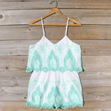Palm Springs Romper in Mint: Alternate View #1