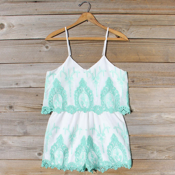 Palm Springs Romper in Mint: Featured Product Image