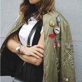 The Patches Bomber Jacket: Alternate View #3