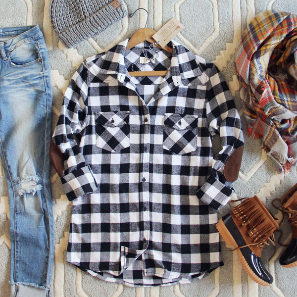 The Patches & Plaid Flannel: Featured Product Image