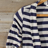 Patches & Stripes Cardigan in Navy: Alternate View #2