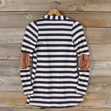 Patches & Stripes Cardigan in Navy: Alternate View #4