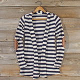 Patches & Stripes Cardigan in Navy: Alternate View #1