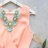 Peach Market Romper: Alternate View #2