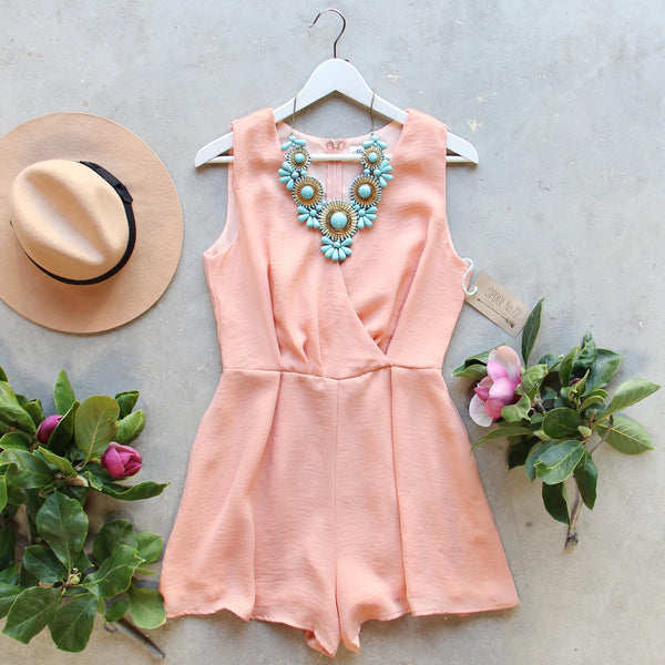 Peach Market Romper: Featured Product Image