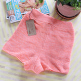 Peachy Knit Lounge Shorts: Alternate View #3