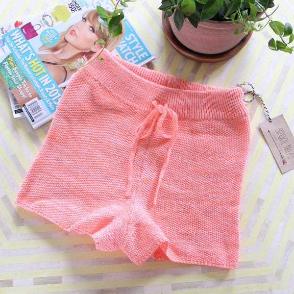 Peachy Knit Lounge Shorts: Featured Product Image
