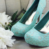 Peony & Mint Heels: Alternate View #2