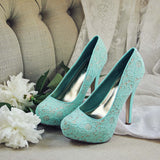 Peony & Mint Heels: Alternate View #1