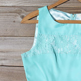 Persian Lace Dress in Turquoise: Alternate View #2