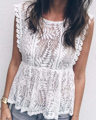 Peony Field Lace Top