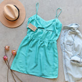 Pin & Hem Dress in Turquoise: Alternate View #4