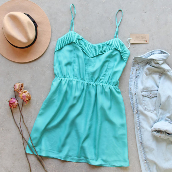 Pin & Hem Dress in Turquoise: Featured Product Image