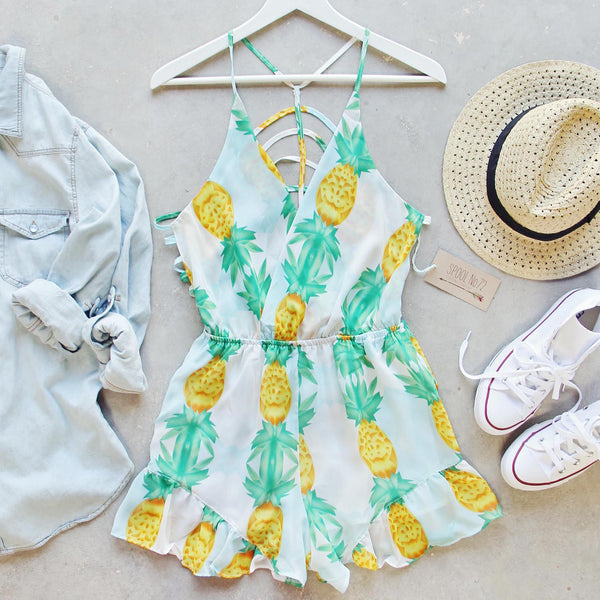 Pina Colada Romper: Featured Product Image