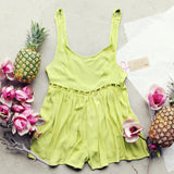 Pineapple Flower Romper: Alternate View #1