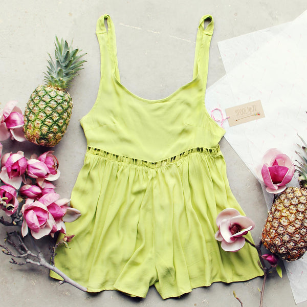 Pineapple Flower Romper: Featured Product Image