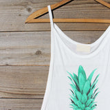 Pineapple Flower Tank: Alternate View #3