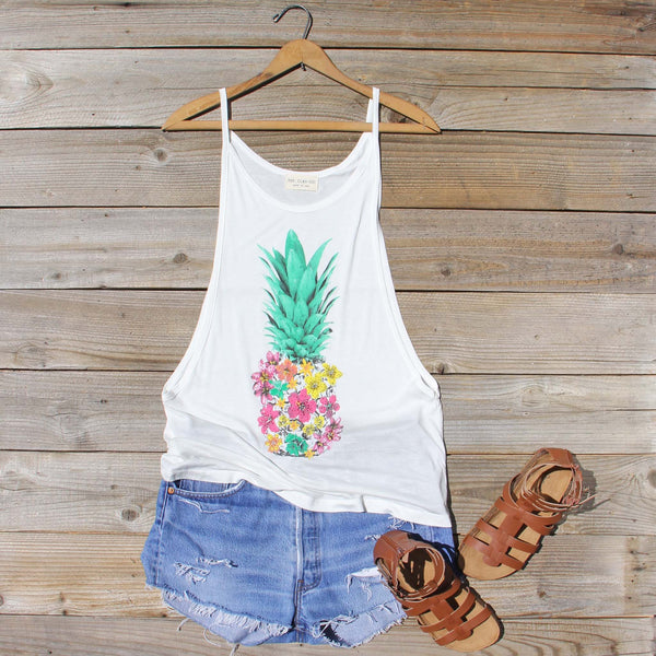Pineapple Flower Tank: Featured Product Image
