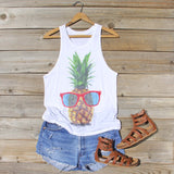 Pineapple Sun Tank: Alternate View #1