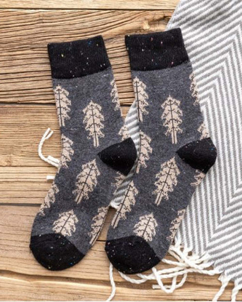 Pine Tree Socks in Gray: Featured Product Image