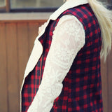 Plaid & Cloth Vest: Alternate View #4