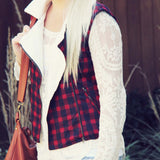 Plaid & Cloth Vest: Alternate View #1