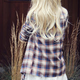 The Plaid & Fringe Top: Alternate View #3