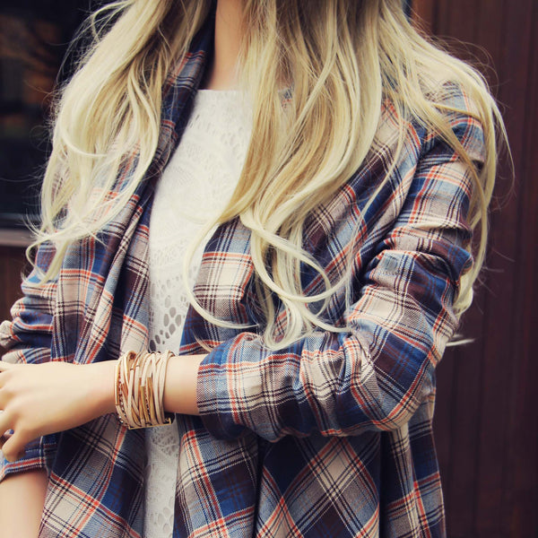 The Plaid & Fringe Top: Featured Product Image