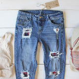 Plaid Patch Skinny Jeans: Alternate View #2