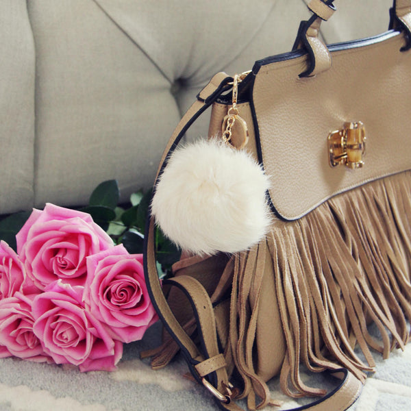 Pom Pom Purse Poof in Cream: Featured Product Image