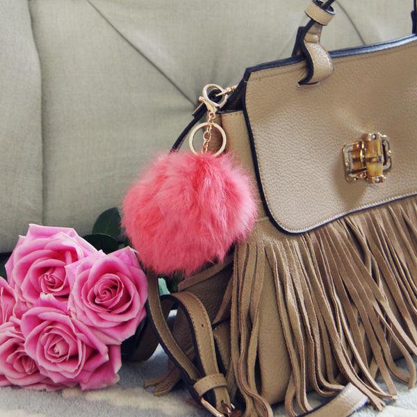 Pom Pom Purse Poof in Pink: Featured Product Image