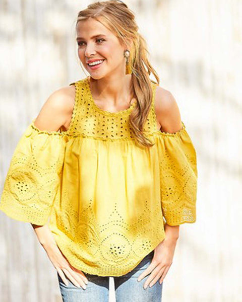 Positano Eyelet Top: Featured Product Image