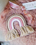 Rainbow Wall Hanging in Pink: Alternate View #2