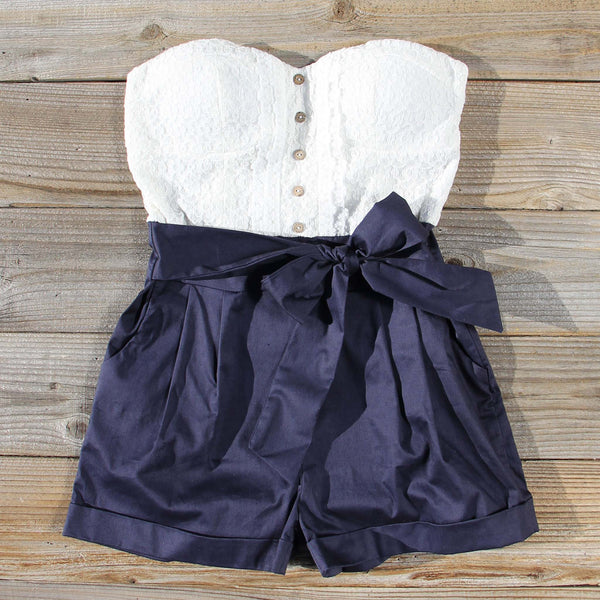 Road Trip Romper in Navy: Featured Product Image