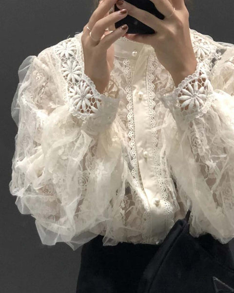 Romantic Lace Blouse: Featured Product Image