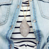 Rose Agate Necklace: Alternate View #1