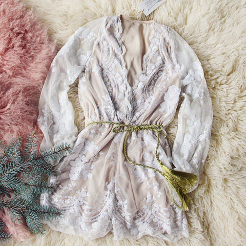 Snow Rose Romper
