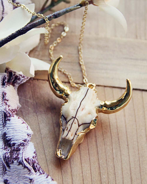 Rosewood Skull Necklace: Featured Product Image