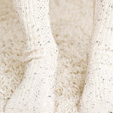 Rosewood Lace Socks in Oatmeal: Alternate View #2