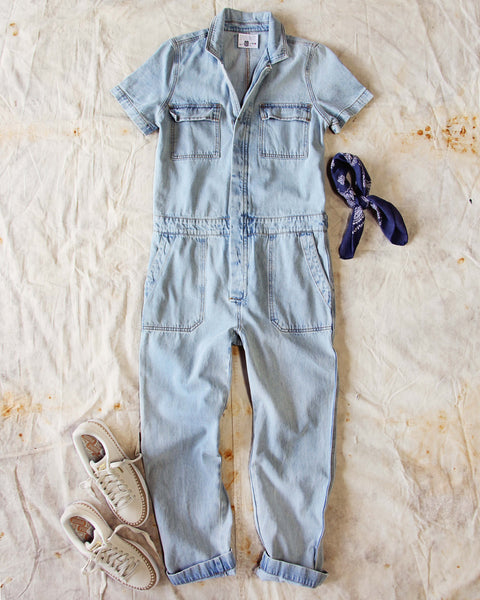 Rosie Coverall Jumpsuit in Denim: Featured Product Image