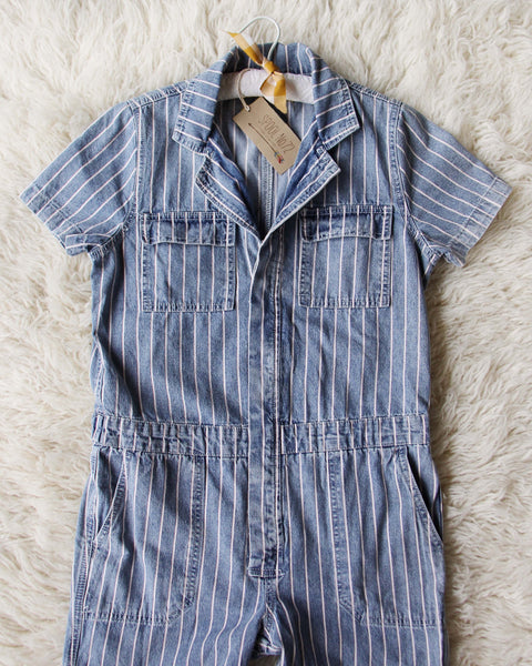 Rosie Coverall Jumpsuit in Stripe: Featured Product Image