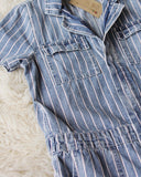 Rosie Coverall Jumpsuit in Stripe: Alternate View #3