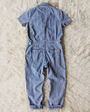 Rosie Coverall Jumpsuit in Stripe: Alternate View #4