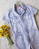 Rosie Coverall Utility Jumpsuit in Lilac: Alternate View #3