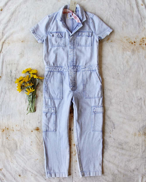 Rosie Coverall Utility Jumpsuit in Lilac: Featured Product Image