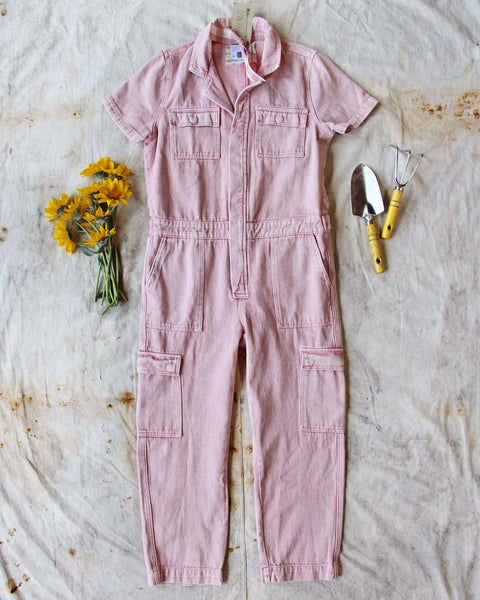 Rosie Coverall Utility Jumpsuit in Pink: Featured Product Image