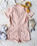 Rosie Short Coveralls in Pink: Alternate View #4